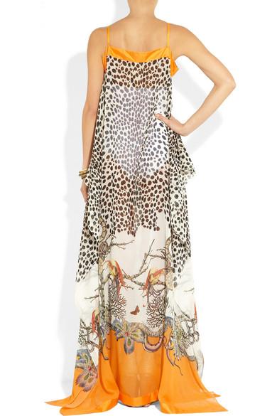 Roberto Cavalli | Printed silk-georgette maxi dress | NET-A-PORTER.COM