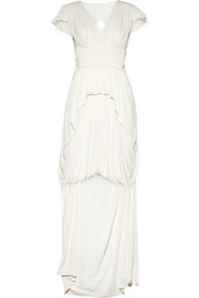 Sophia Kokosalaki Philotes pleated stretch-crepe gown