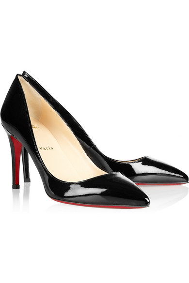 874b1534bd33 Christian Louboutin. The Pigalle 85 patent-leather pumps