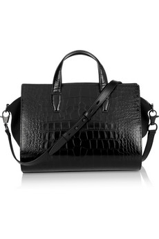 ALEXANDER WANG Croc-effect leather and neoprene tote