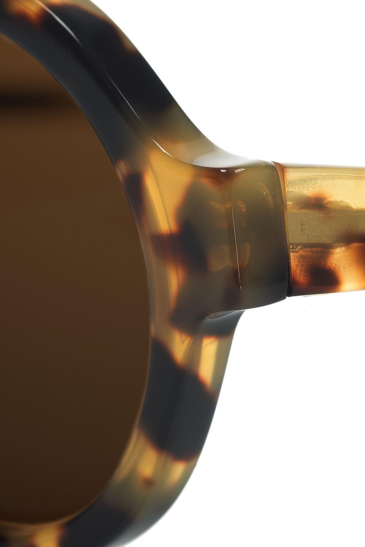 Illesteva Frieda round-frame tortoiseshell acetate sunglasses