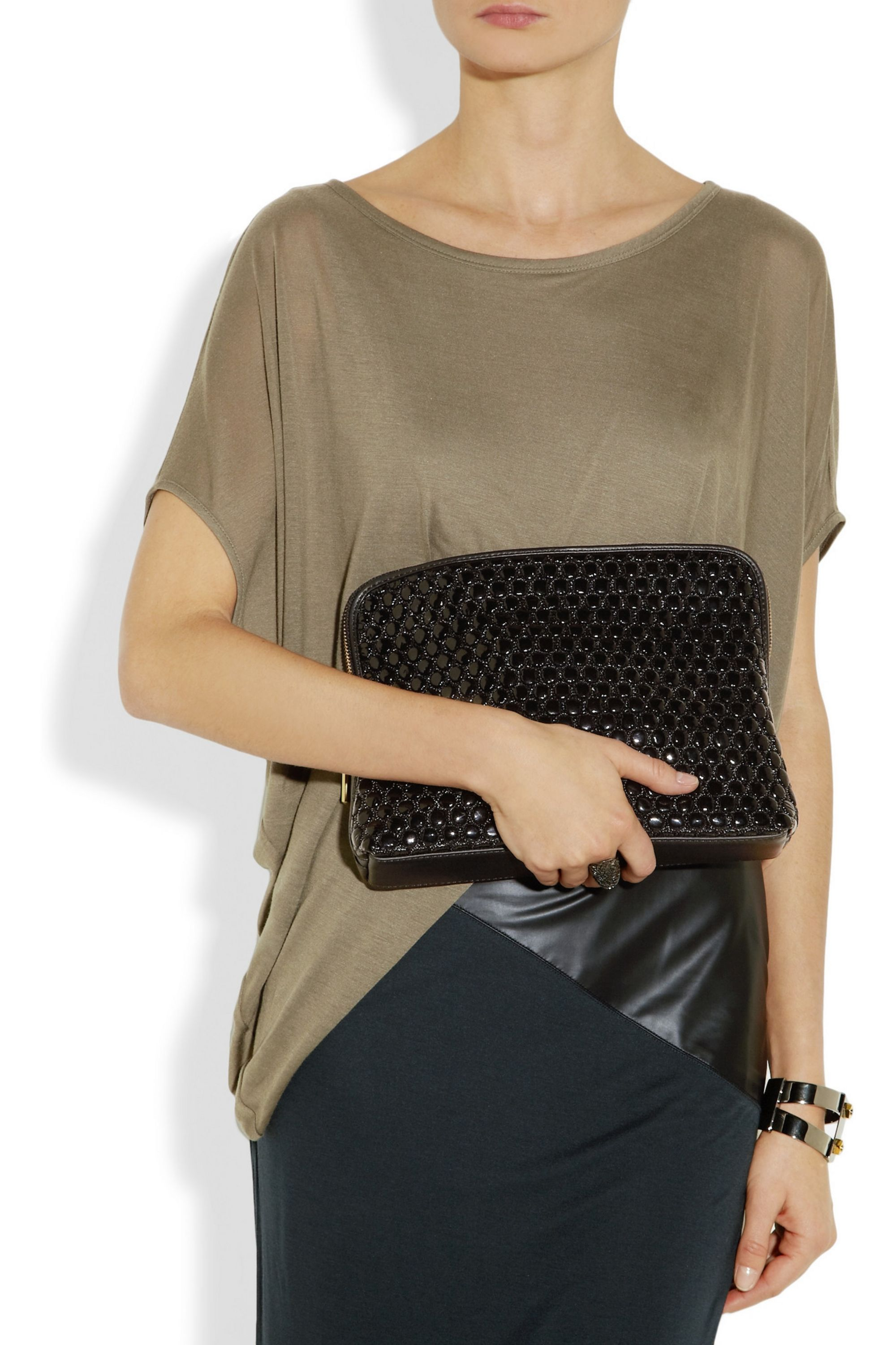 3.1 Phillip Lim 31 Minute quilted leather clutch