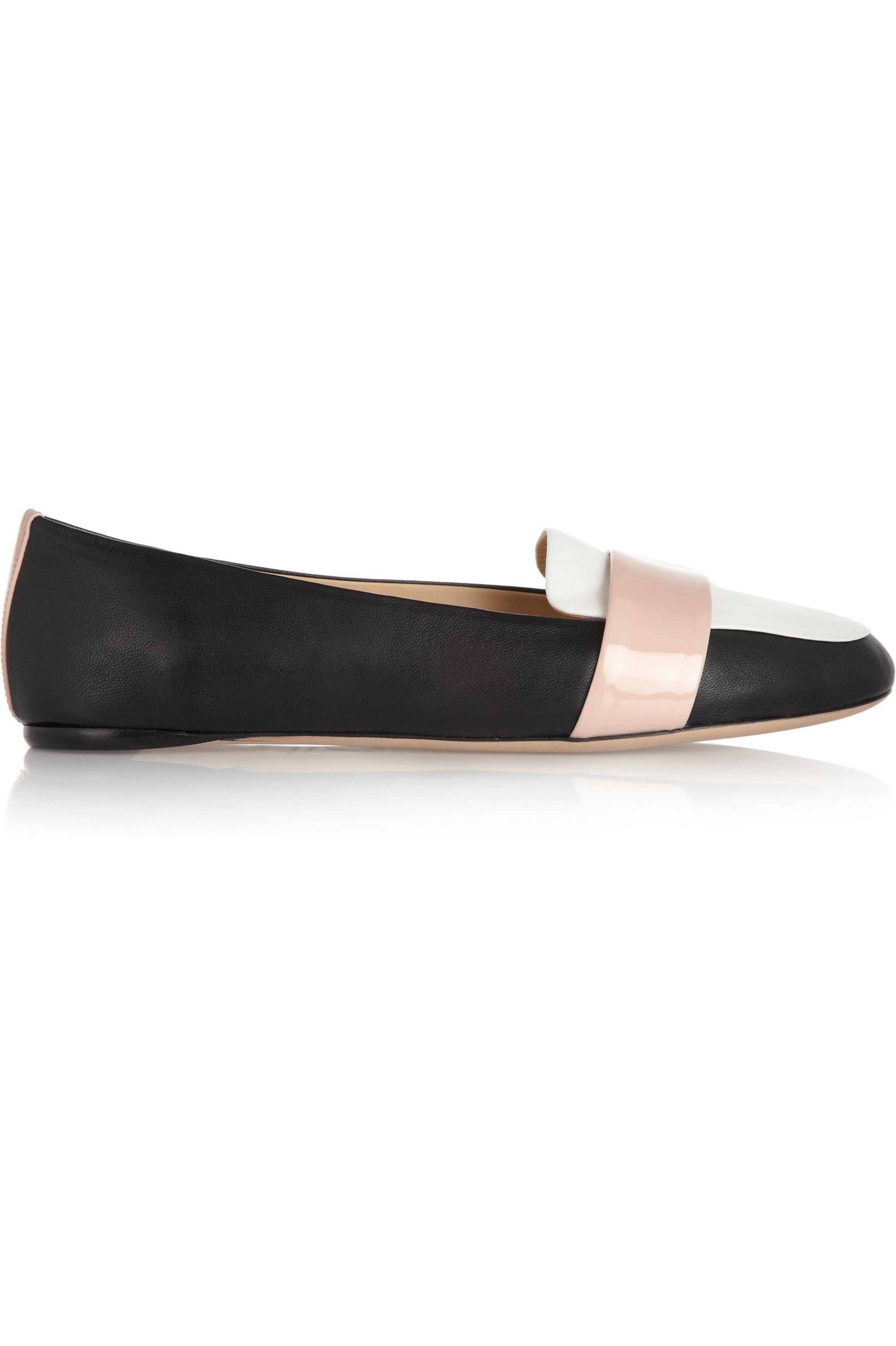 Reed Krakoff Tri-tone leather loafers