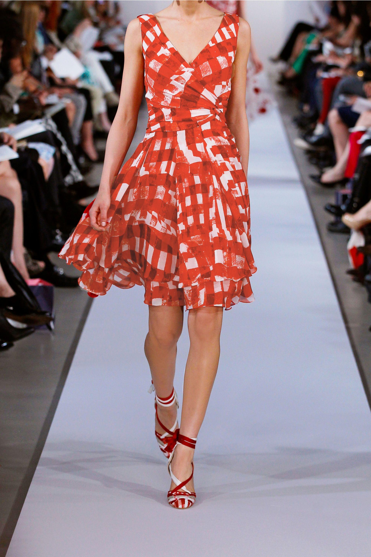 Oscar de la Renta Printed silk-chiffon dress