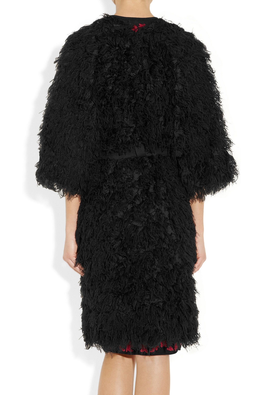 Zero+MariaCornejo Oki feather-effect organza coat