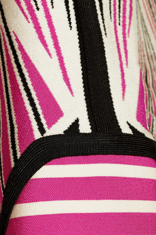 Hervé Léger Cutout stretch-knit dress
