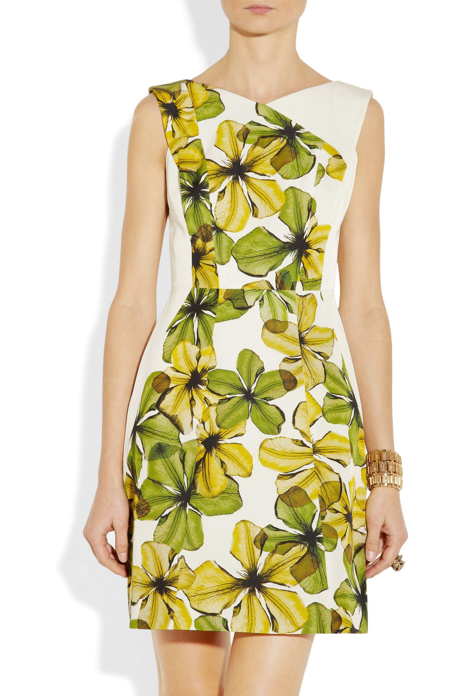 Jason Wu Collection Floral-print cotton-blend faille dress