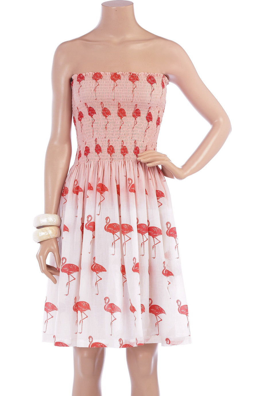 Tara Matthews Flamingo print dress | NET-A-PORTER.COM from net-a-porter.com
