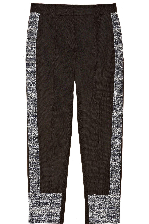 Derek Lam Cropped cotton-blend and tweed pants
