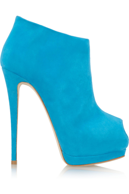 Giuseppe Zanotti Suede peep-toe platform ankle boots