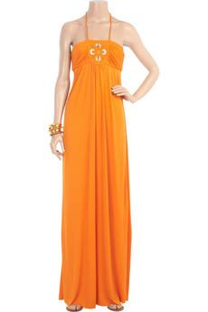 Milly Beaded halter maxi dress | NET-A-PORTER.COM from net-a-porter.com