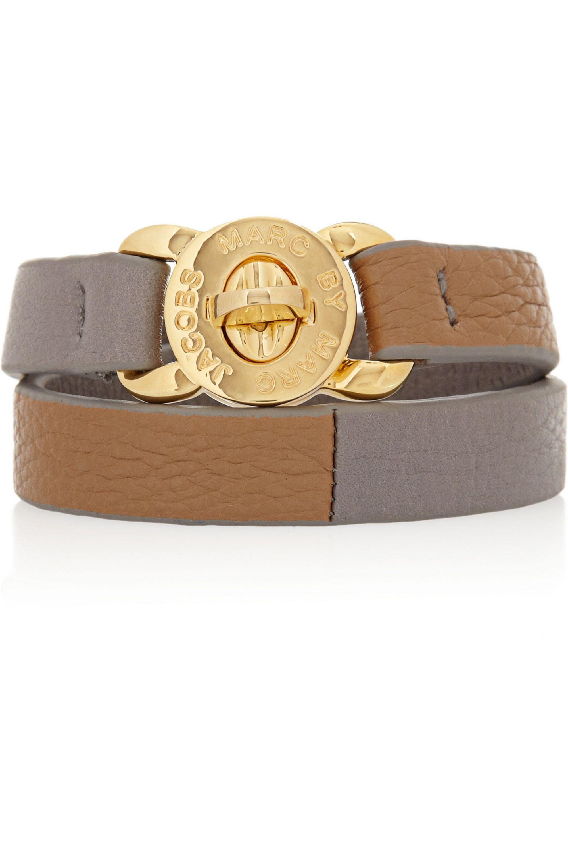 Marc by Marc Jacobs Katie textured-leather wrap bracelet