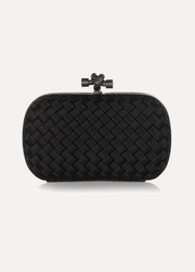 Bottega Veneta The Knot intrecciato satin clutch
