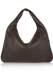 Maxi Veneta intrecciato leather shoulder bag