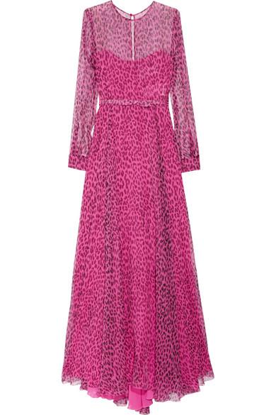 Valentino. Leopard-print silk-chiffon gown 615b5af33