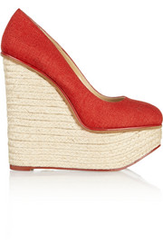 Carmen canvas wedge espadrilles