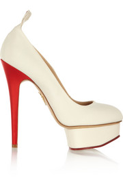 Charlotte Olympia Love Dolly silk-twill pumps