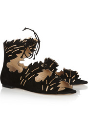 Charlotte Olympia Eden cutout suede sandals