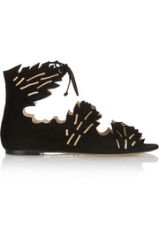 Eden cutout suede sandals