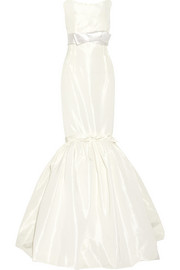 Strapless faille gown