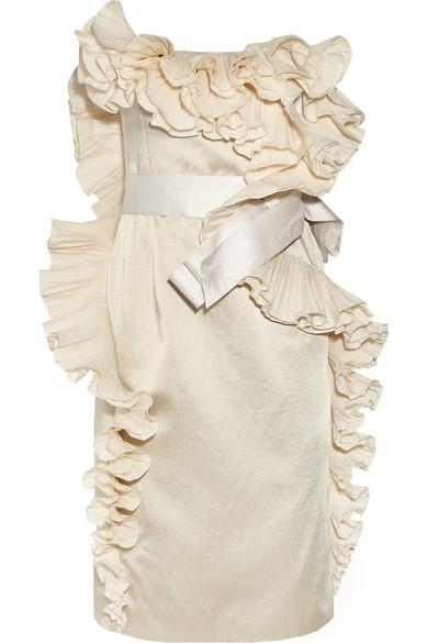 Sale alerts for Ruffled satin dress Lanvin - Covvet