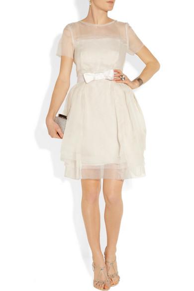 layered silkorganza dress
