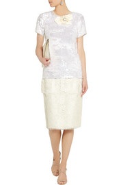 Lanvin Lace pencil skirt