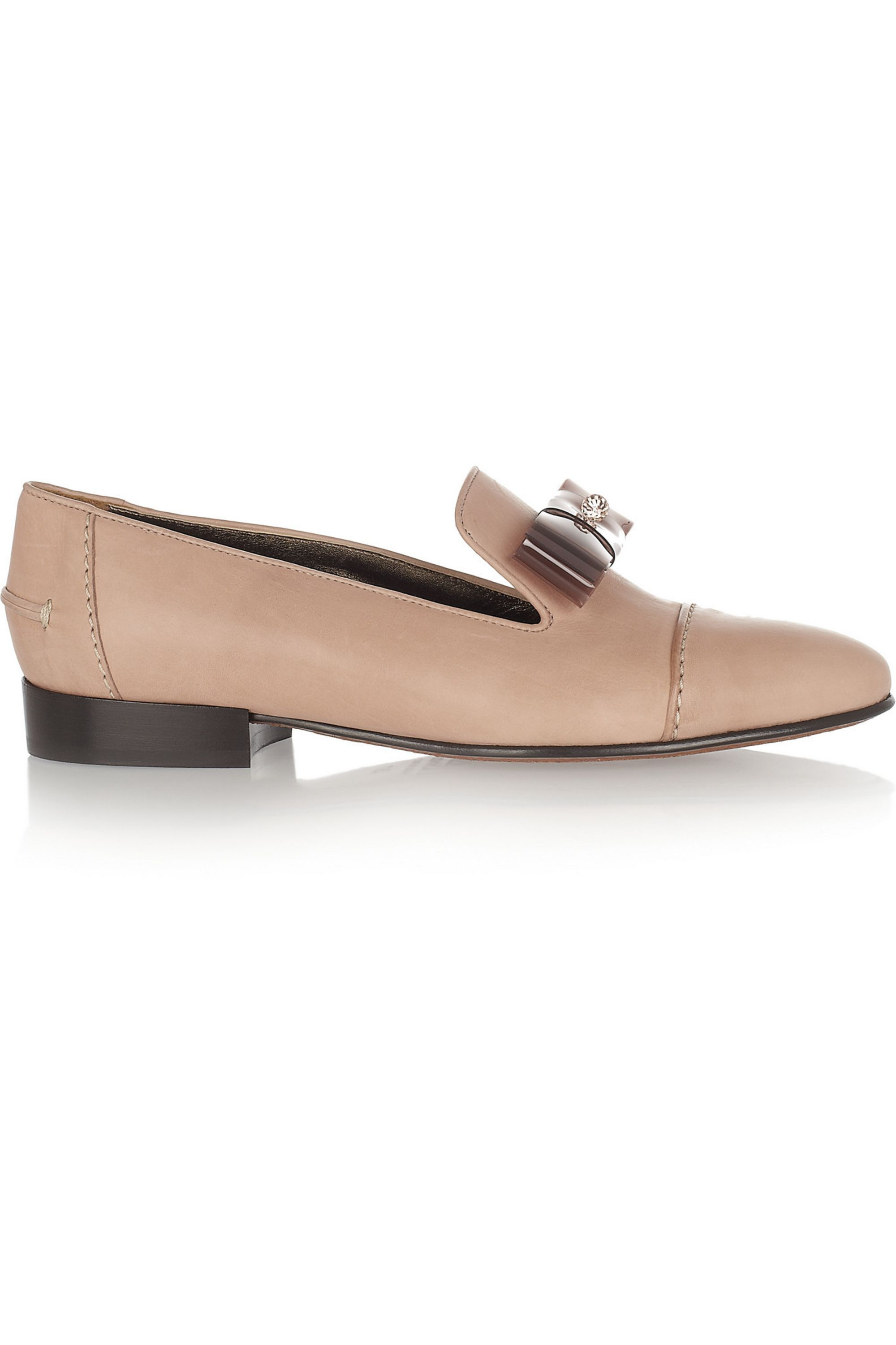 Lanvin Bow-detailed leather loafers