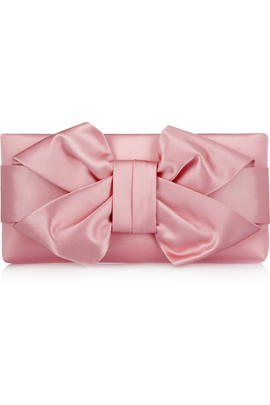 Sale alerts for Bow silk-satin clutch Valentino - Covvet