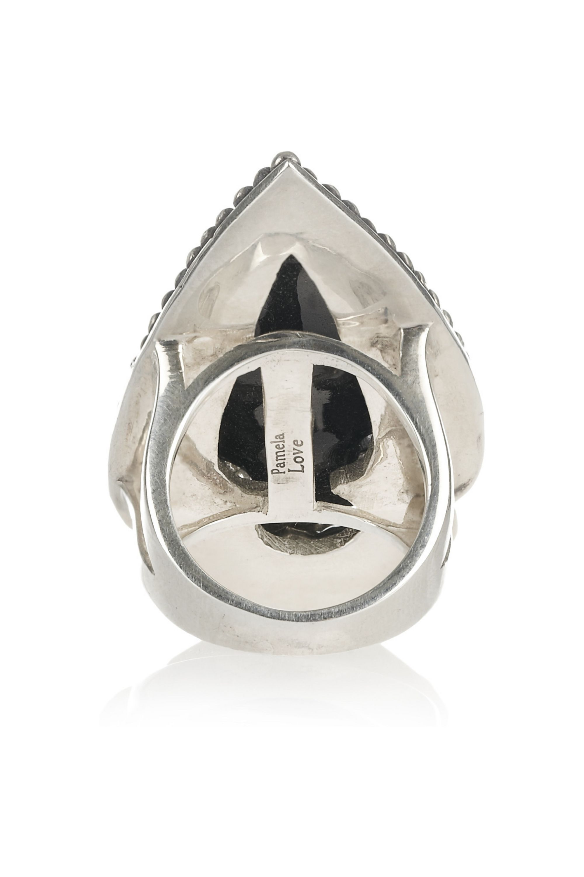 Pamela Love Sterling silver obsidian arrowhead ring