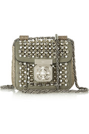 Elsie mini embellished watersnake shoulder bag