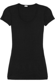 Cotton and modal-blend jersey T-shirt