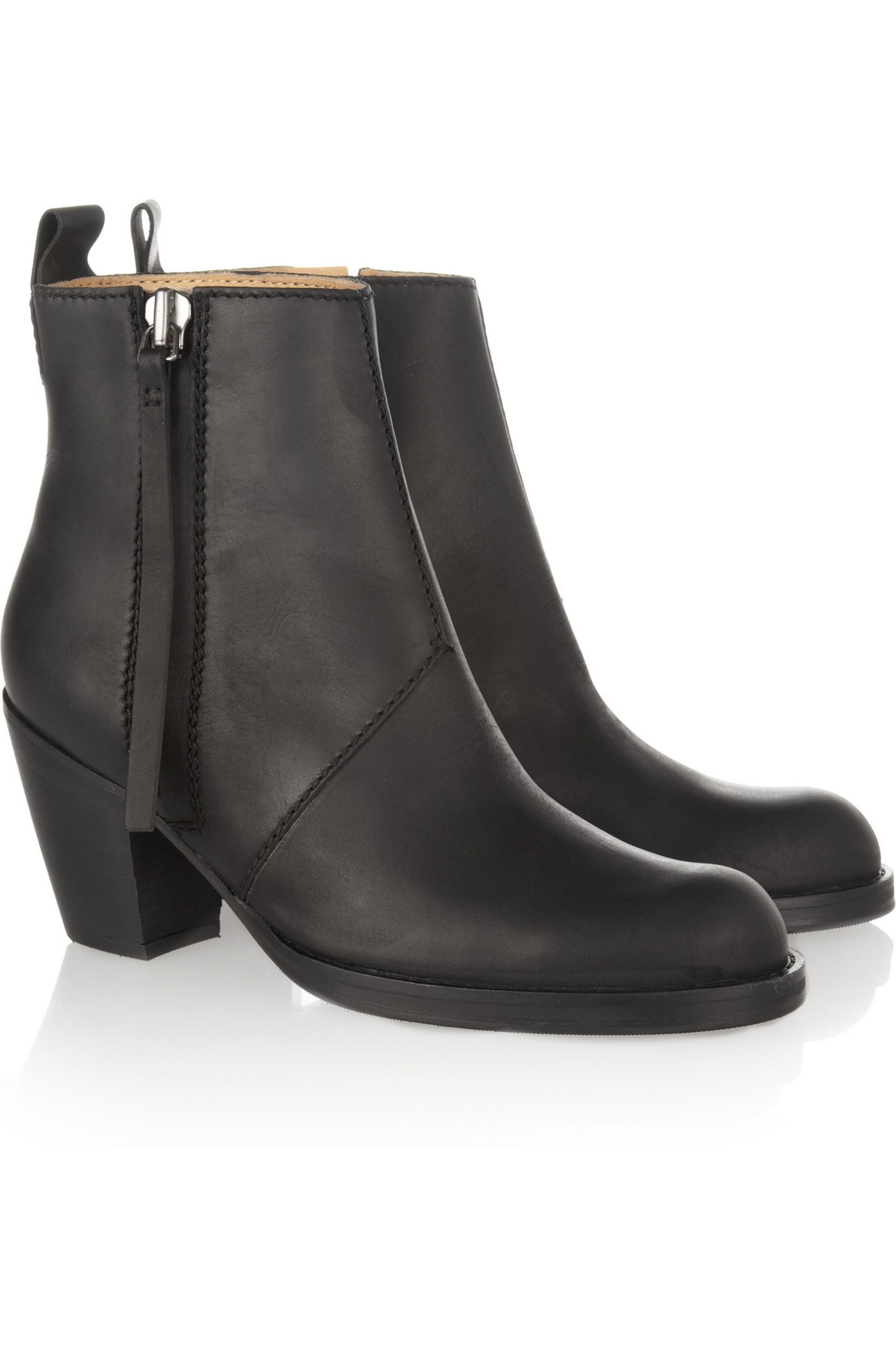 Black The Pistol leather ankle boots