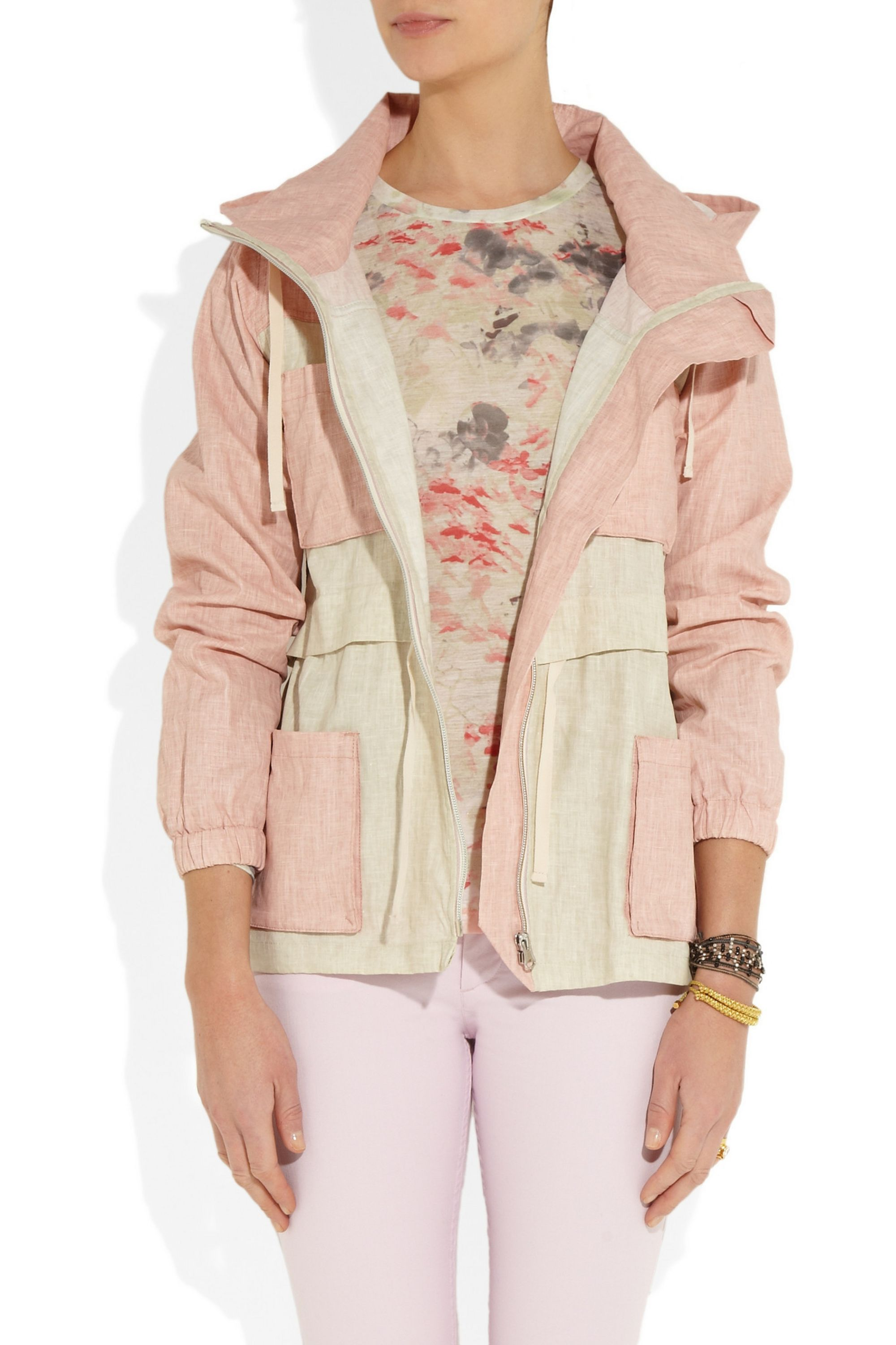 Isabel Marant Étoile Craig coated linen-blend hooded jacket