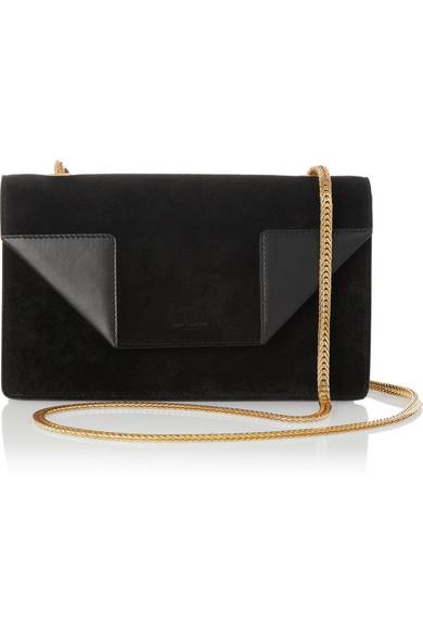 d31122c21c SAINT LAURENT   Betty Mini Chain suede shoulder bag   NET-A-PORTER.COM