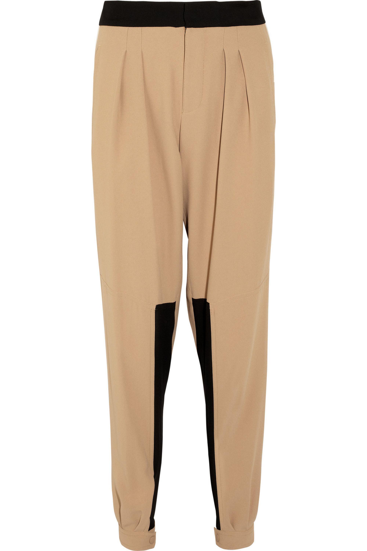 Chloé Paneled crepe tapered pants