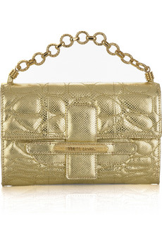 Roberto Cavalli Fold-over metallic clutch | NET-A-PORTER.COM from net-a-porter.com