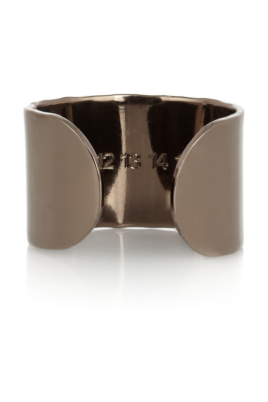 Maison Margiela Set of four bronze-tone knuckleduster rings