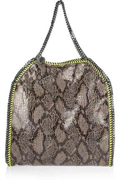 1cfff2412915 Stella McCartney. The Falabella large laminated faux python shoulder bag