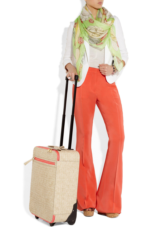 Stella McCartney Faux crocodile suitcase