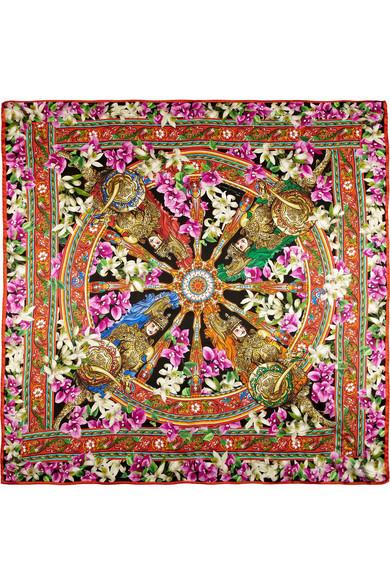 1f9e2d9d Dolce & Gabbana | Floral-print silk scarf | NET-A-PORTER.COM