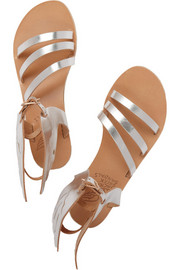 Ancient Greek Sandals Ikaria metallic leather wing sandals