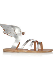 Ikaria metallic leather wing sandals