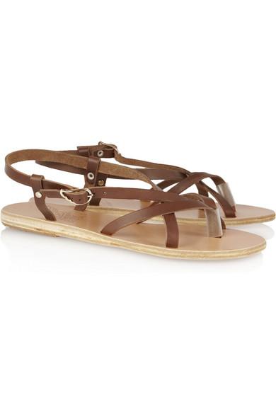Ancient Greek Sandals Semele Leather Sandals Net A
