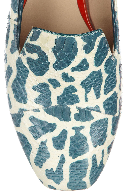 Nicholas Kirkwood Printed elaphe slippers