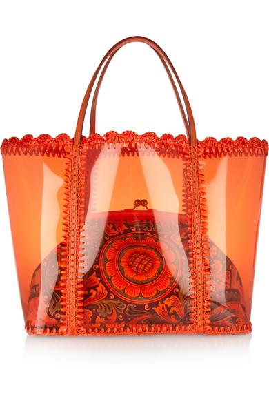 Dolce   Gabbana   Escape PVC shopper and canvas shoulder bag   NET-A ... 01c0904213