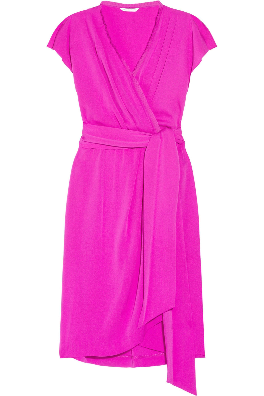 Diane von Furstenberg Mateo silk-blend wrap-effect dress