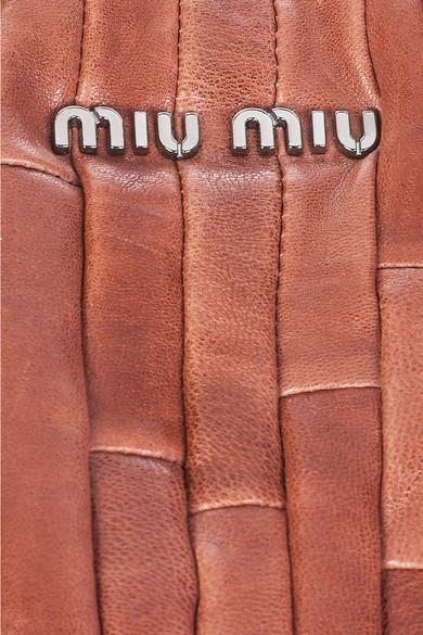 ad39f06307c0 Miu Miu. Nappa patch leather bag. £423. Zoom In