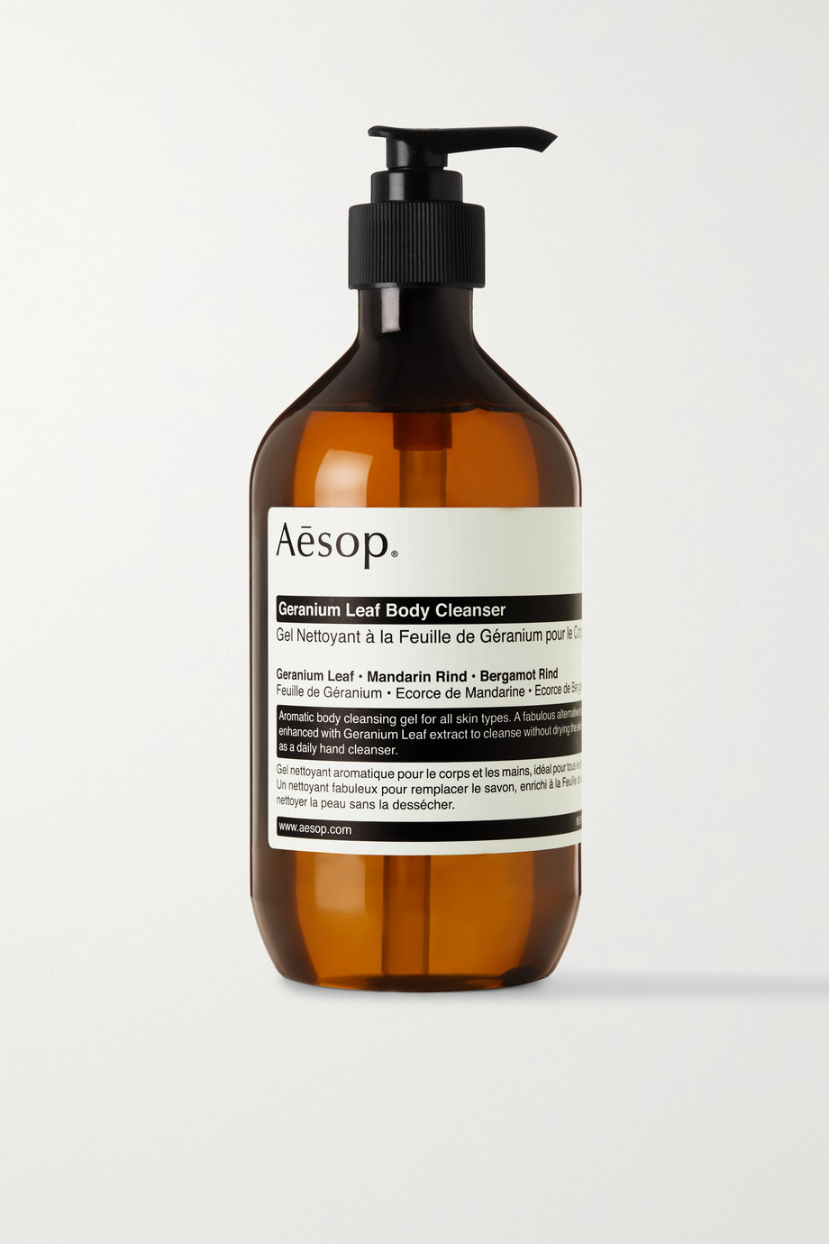 Aesop + NET SUSTAIN Geranium Leaf Body Cleanser, 500ml