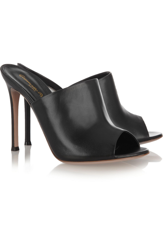 Gianvito Rossi Leather mules